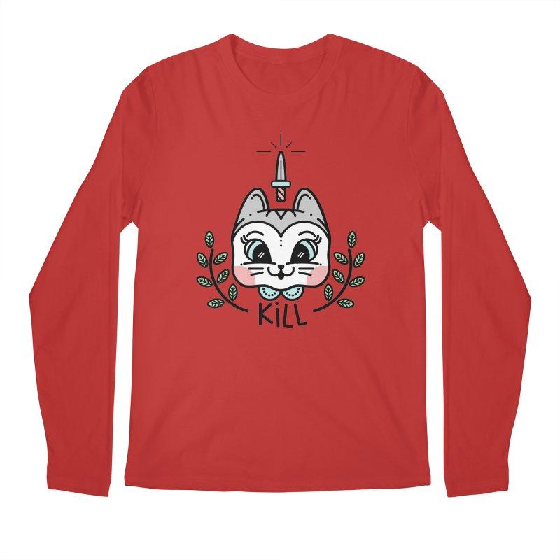 Kitty kill Men's Regular Longsleeve T-Shirt by Cristóbal Urrea