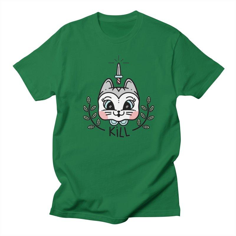 Kitty kill Women's Unisex T-Shirt by 3lw's Artist Shop