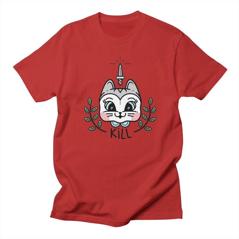 Kitty kill Men's T-shirt by 3lw's Artist Shop