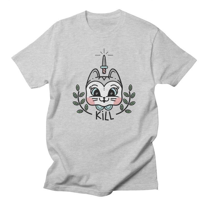Kitty kill Men's Regular T-Shirt by Cristóbal Urrea