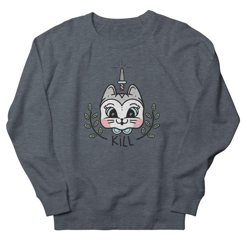 Kitty kill Women's French Terry Sweatshirt by Cristóbal Urrea