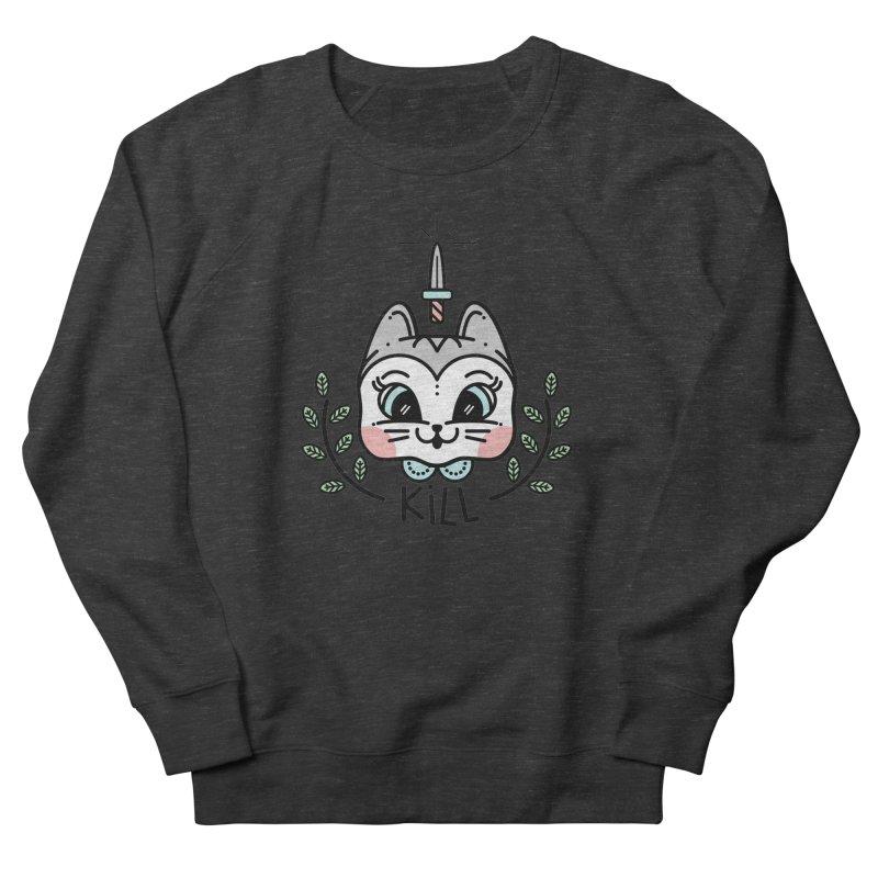 Kitty kill Men's French Terry Sweatshirt by 3lw's Artist Shop