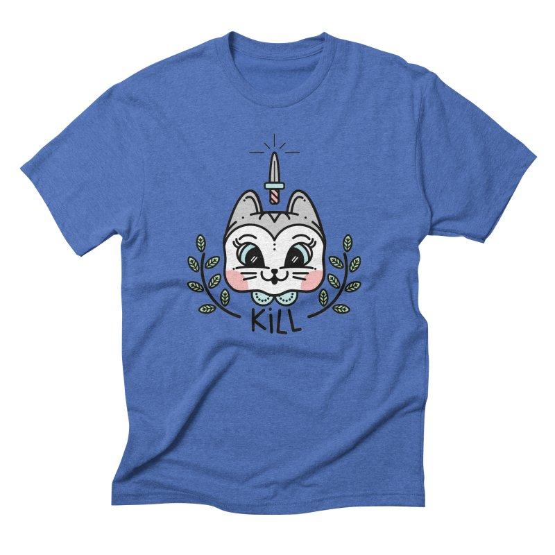 Kitty kill Men's Triblend T-shirt by 3lw's Artist Shop