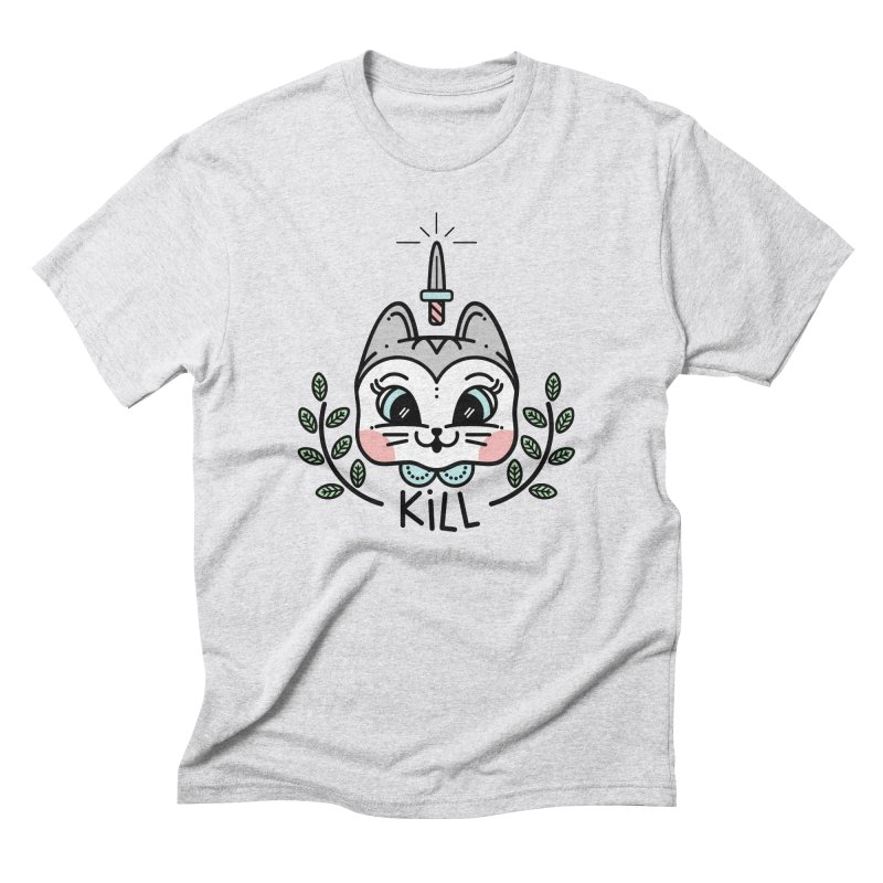 Kitty kill Men's Triblend T-Shirt by Cristóbal Urrea