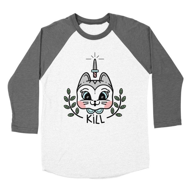 Kitty kill Women's Baseball Triblend Longsleeve T-Shirt by 3lw's Artist Shop