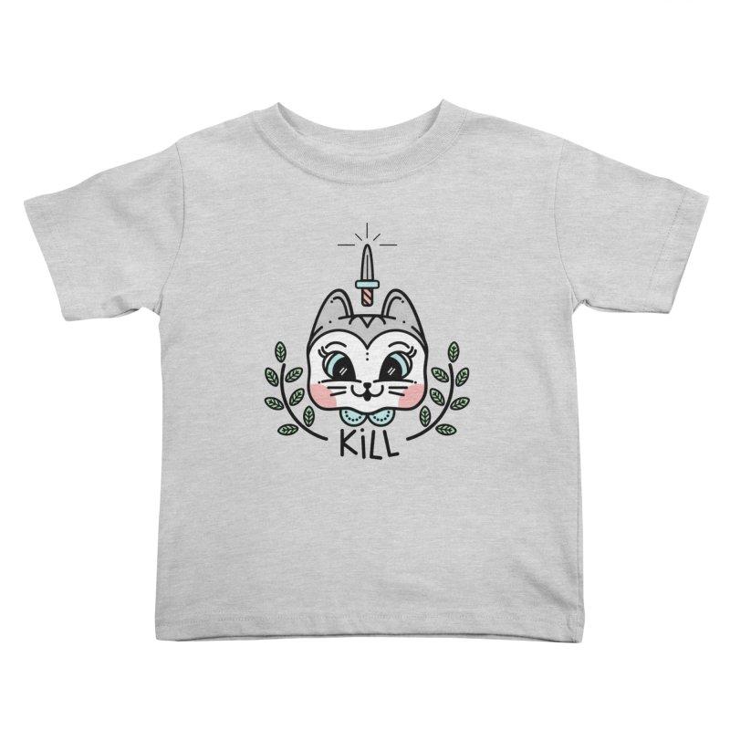 Kitty kill Kids Toddler T-Shirt by 3lw's Artist Shop