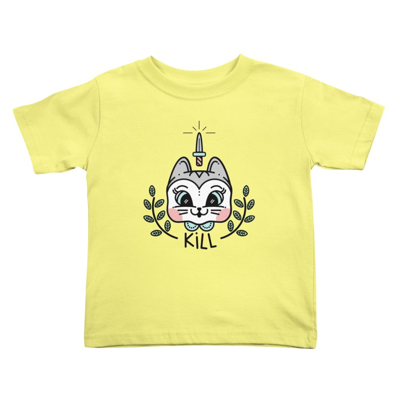 Kitty kill Kids Toddler T-Shirt by 3lw's Artist Shop
