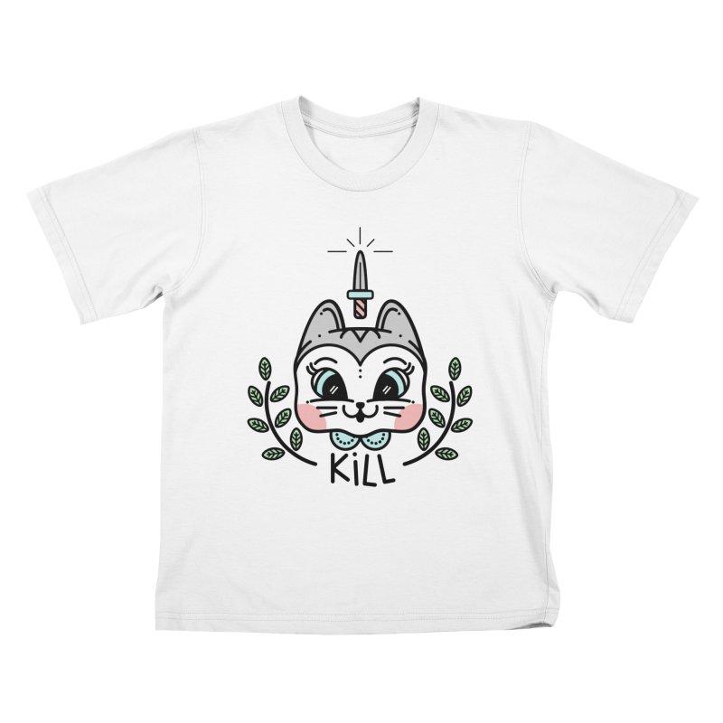 Kitty kill Kids T-shirt by 3lw's Artist Shop