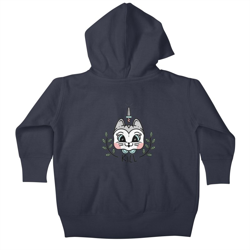 Kitty kill Kids Baby Zip-Up Hoody by Cristóbal Urrea