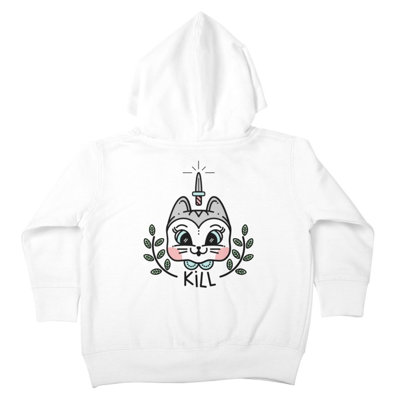 Kitty kill Kids Toddler Zip-Up Hoody by 3lw's Artist Shop