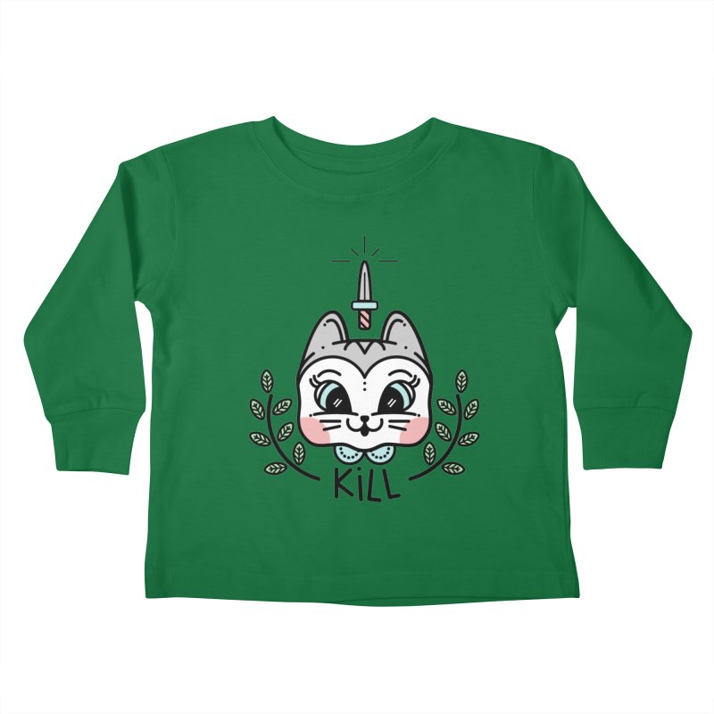 Kitty kill Kids Toddler Longsleeve T-Shirt by 3lw's Artist Shop