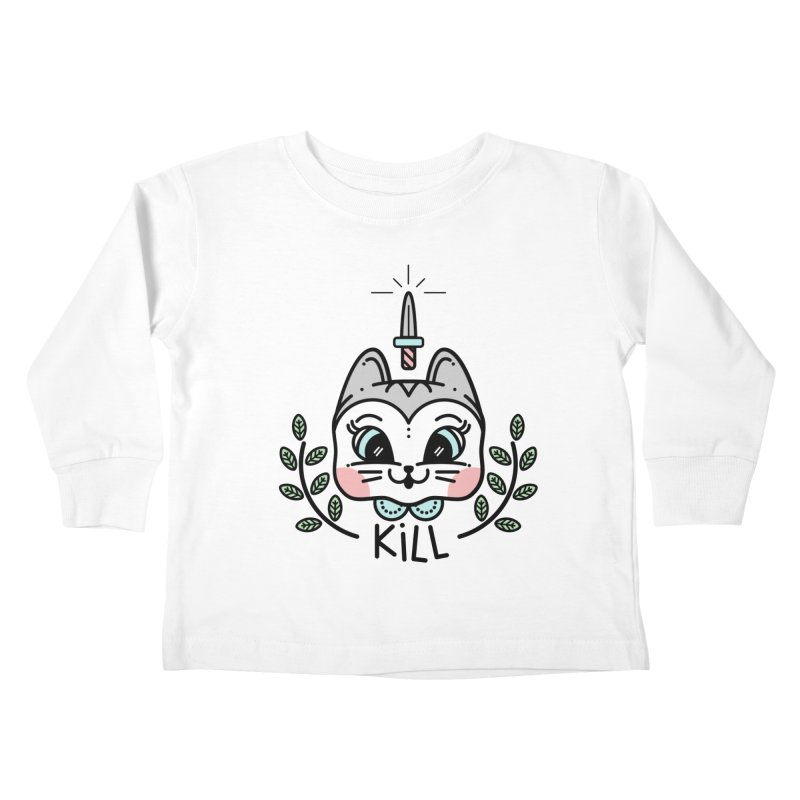 Kitty kill Kids Toddler Longsleeve T-Shirt by 3lw's Artist Shop