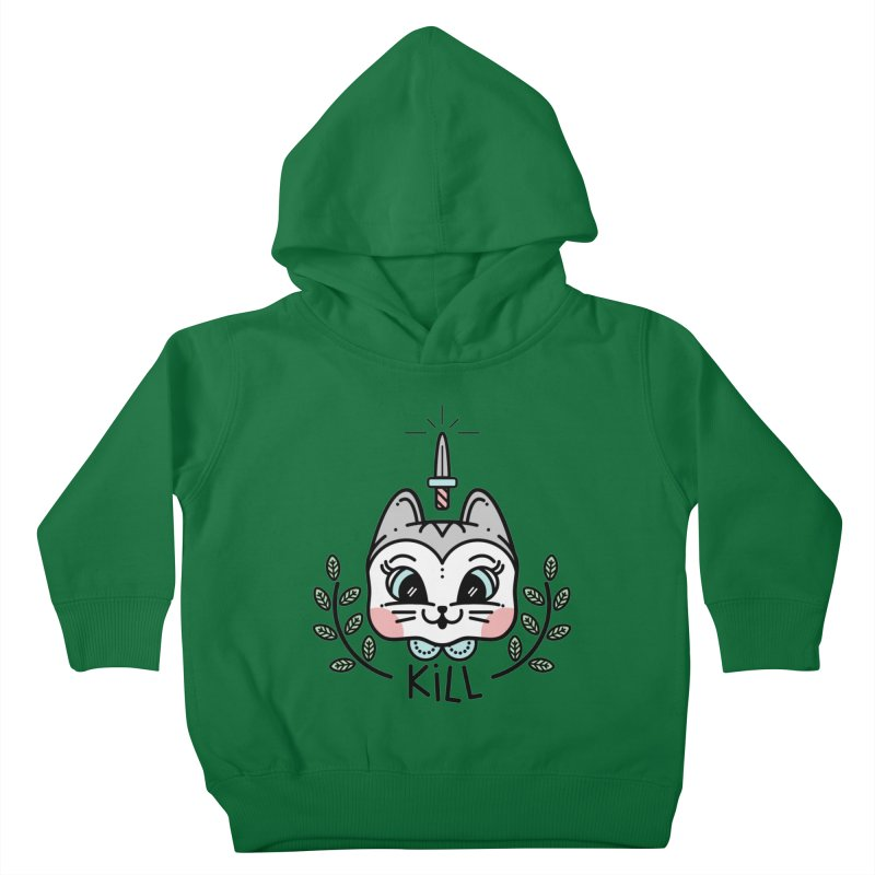 Kitty kill Kids Toddler Pullover Hoody by 3lw's Artist Shop