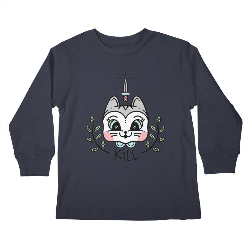 Kitty kill Kids Longsleeve T-Shirt by Cristóbal Urrea
