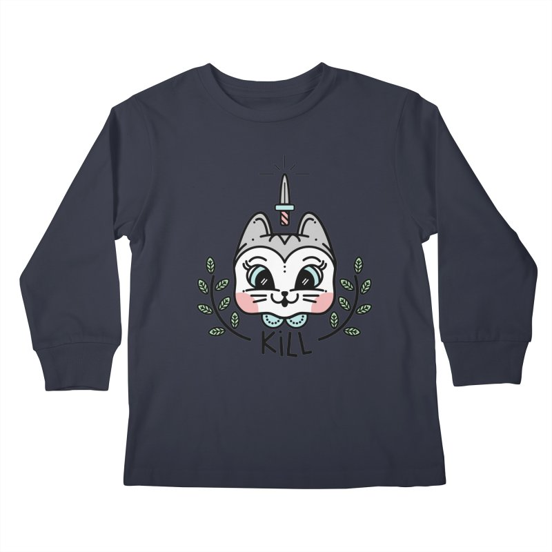 Kitty kill Kids Longsleeve T-Shirt by 3lw's Artist Shop