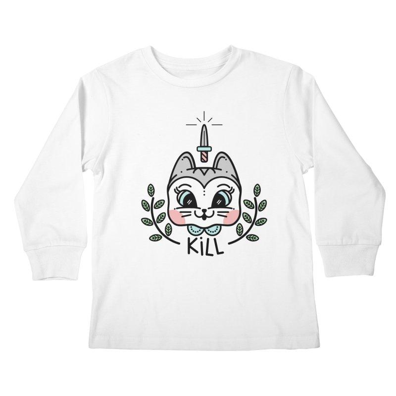 Kitty kill Kids Longsleeve T-Shirt by 3lw's Artist Shop