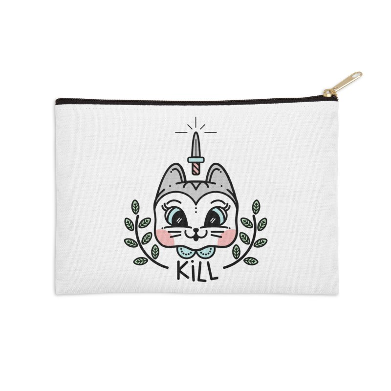 Kitty kill Accessories Zip Pouch by 3lw's Artist Shop