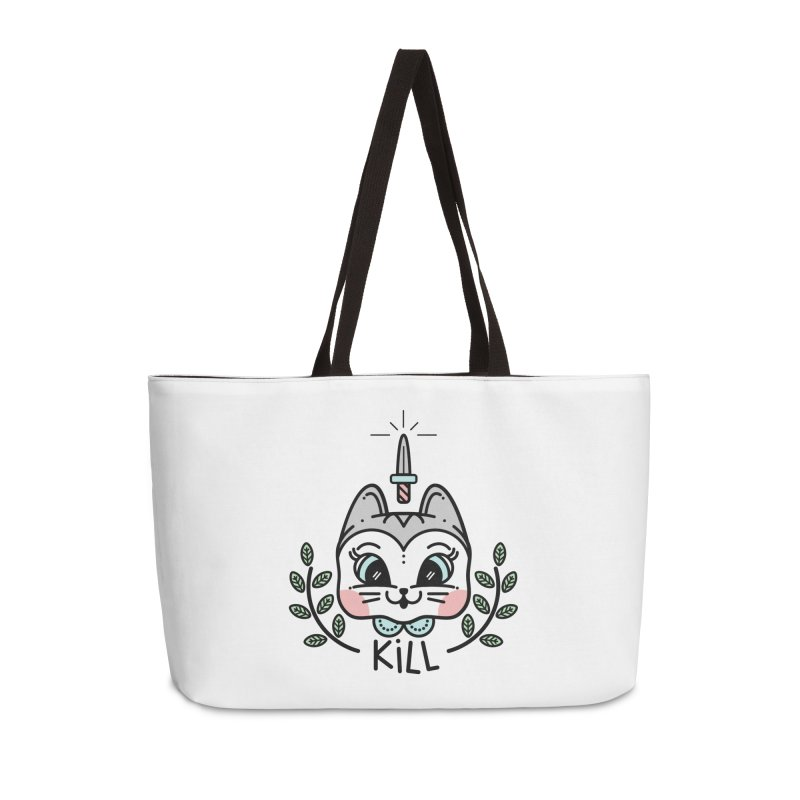 Kitty kill Accessories Weekender Bag Bag by Cristóbal Urrea