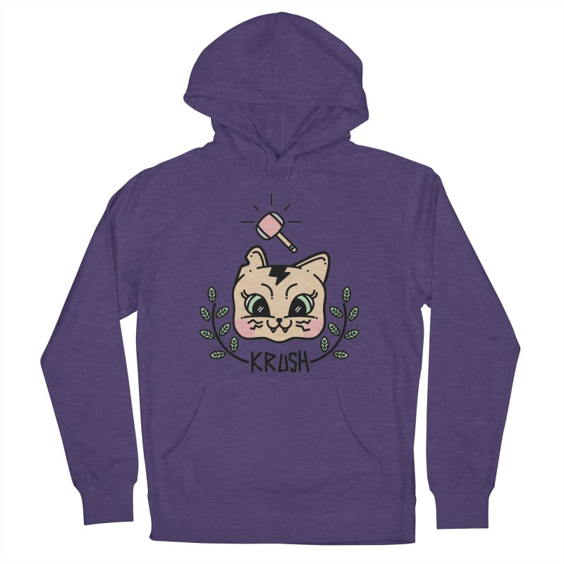 Kitty krush Men's French Terry Pullover Hoody by Cristóbal Urrea