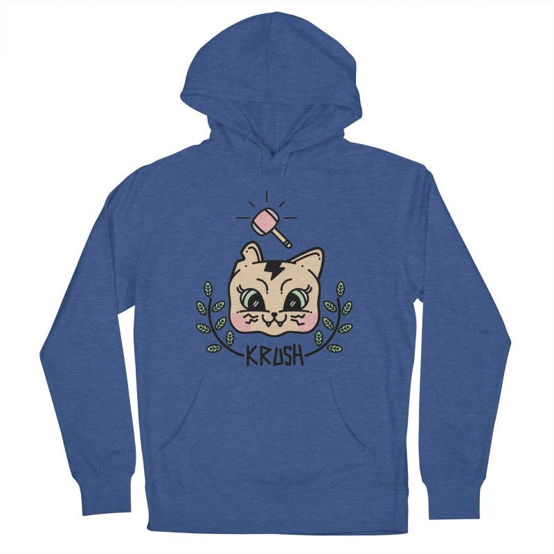 Kitty krush Men's French Terry Pullover Hoody by 3lw's Artist Shop