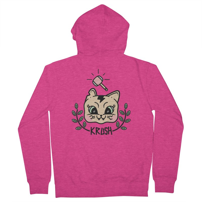 Kitty krush Women's French Terry Zip-Up Hoody by 3lw's Artist Shop