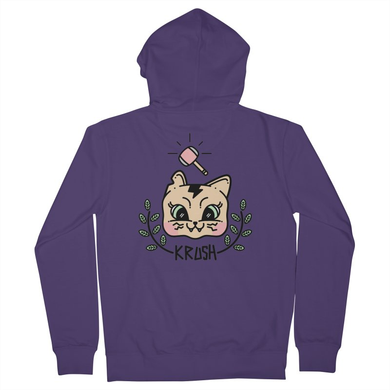 Kitty krush Women's Zip-Up Hoody by 3lw's Artist Shop