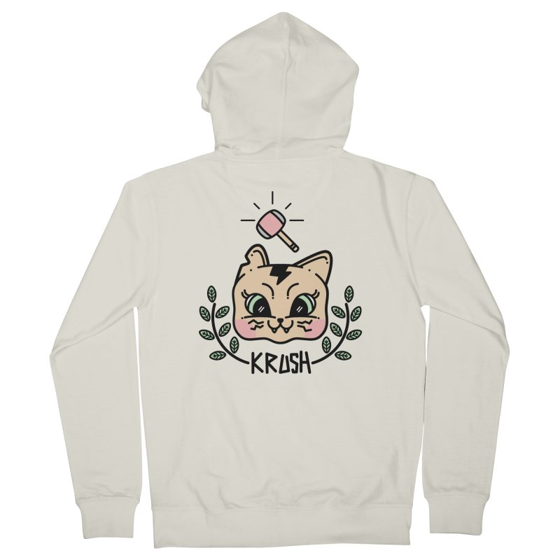 Kitty krush Men's Zip-Up Hoody by 3lw's Artist Shop