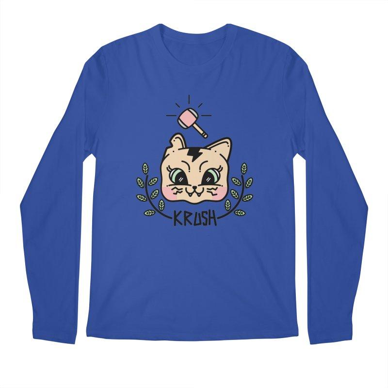 Kitty krush Men's Longsleeve T-Shirt by 3lw's Artist Shop