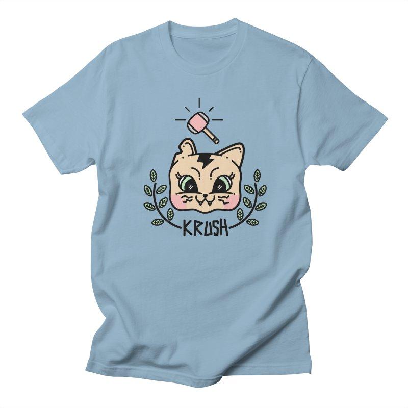 Kitty krush Women's Regular Unisex T-Shirt by Cristóbal Urrea