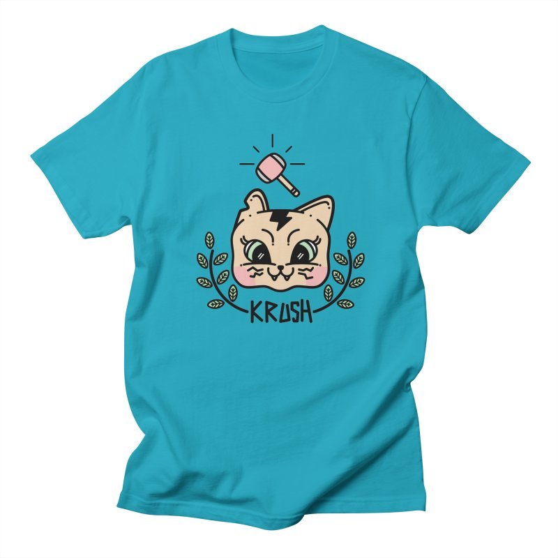 Kitty krush Men's T-shirt by 3lw's Artist Shop