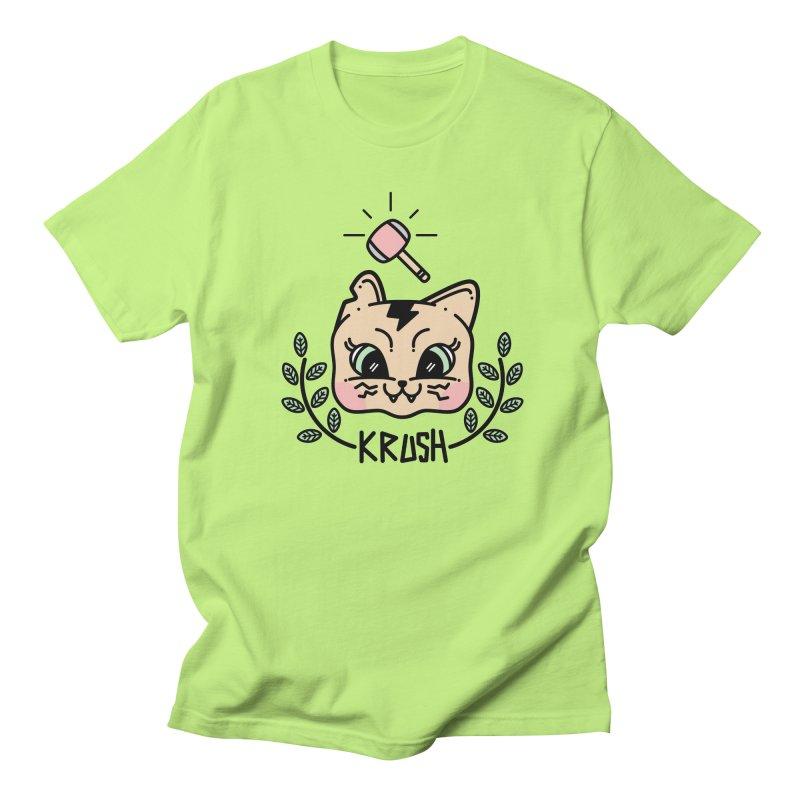 Kitty krush Women's Unisex T-Shirt by 3lw's Artist Shop