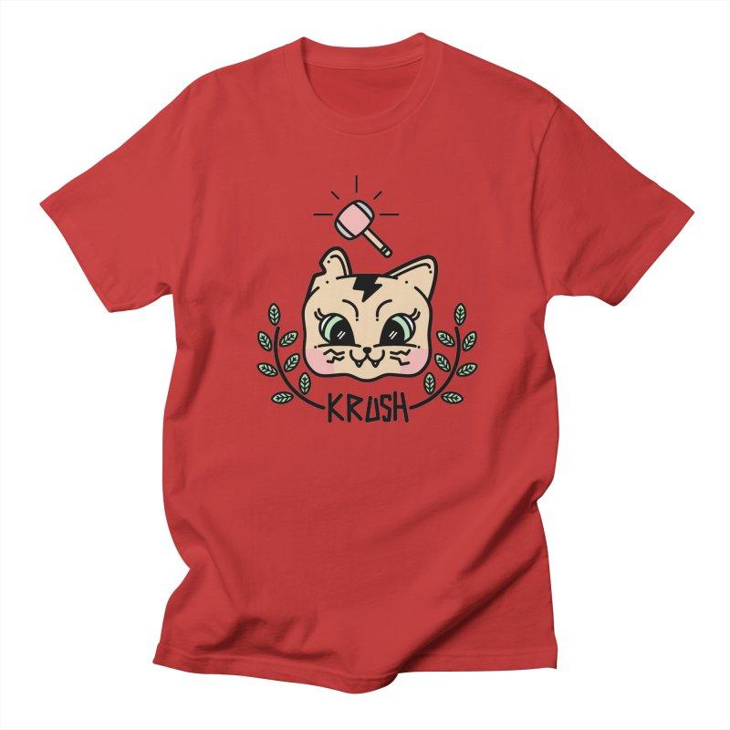 Kitty krush Men's Regular T-Shirt by Cristóbal Urrea