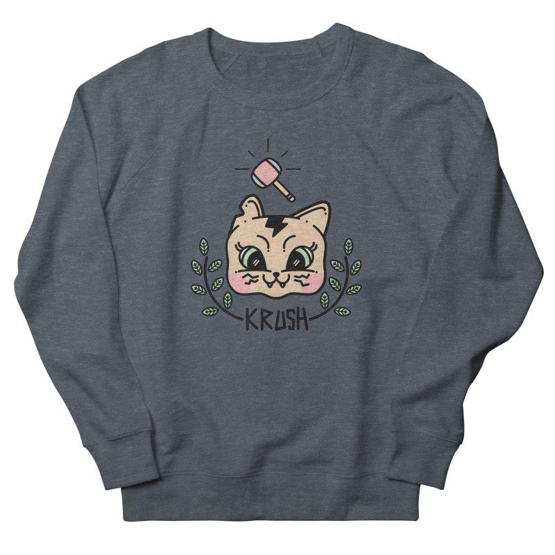 Kitty krush Men's French Terry Sweatshirt by Cristóbal Urrea