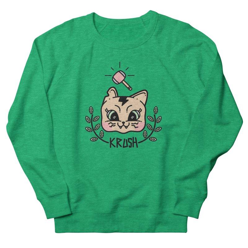 Kitty krush Men's French Terry Sweatshirt by 3lw's Artist Shop