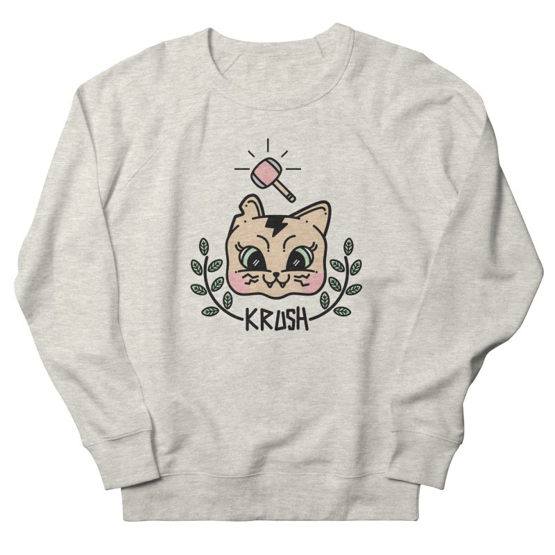 Kitty krush Men's French Terry Sweatshirt by Cristóbal Urrea