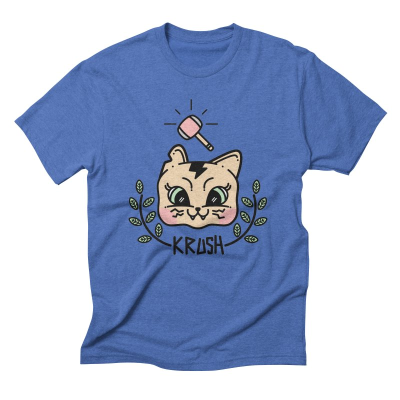 Kitty krush Men's Triblend T-shirt by 3lw's Artist Shop