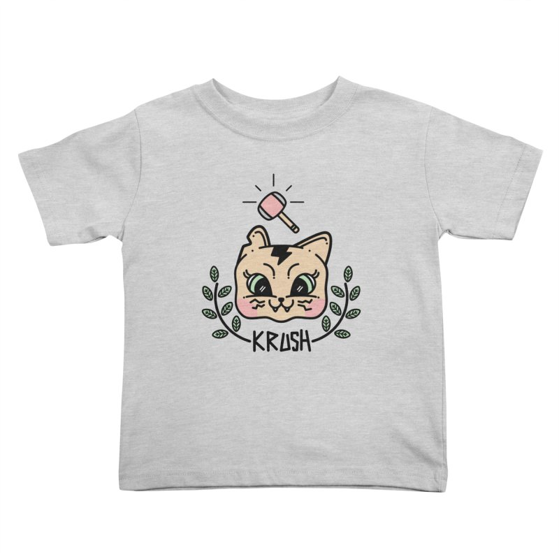 Kitty krush Kids Toddler T-Shirt by 3lw's Artist Shop