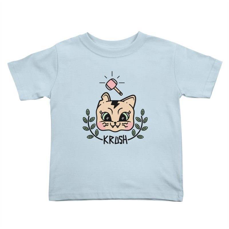Kitty krush Kids Toddler T-Shirt by 3lw's Artist Shop