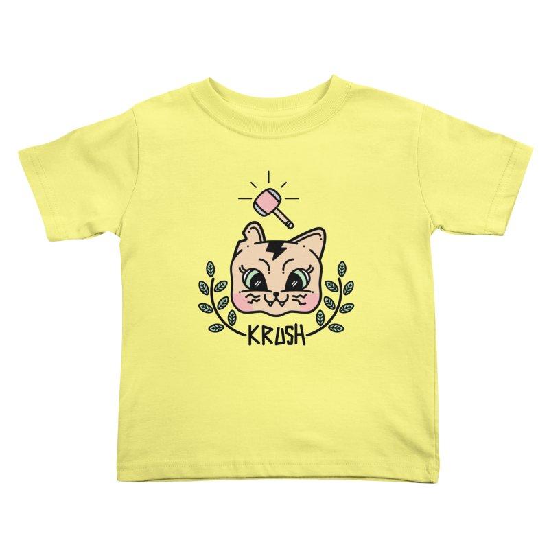 Kitty krush Kids Toddler T-Shirt by Cristóbal Urrea