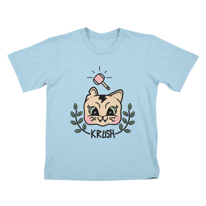 Kitty krush Kids T-Shirt by 3lw's Artist Shop