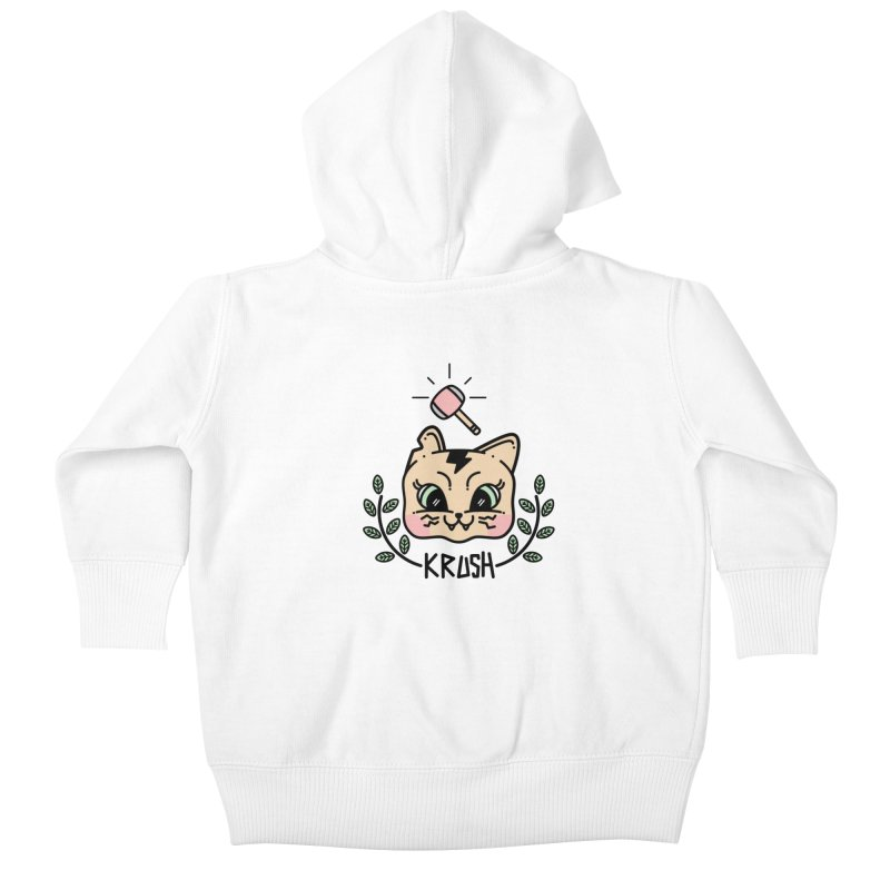 Kitty krush Kids Baby Zip-Up Hoody by Cristóbal Urrea