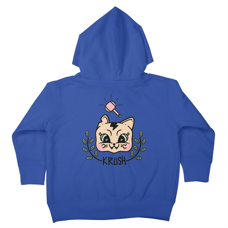 Kitty krush Kids Toddler Zip-Up Hoody by 3lw's Artist Shop