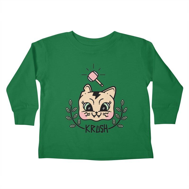 Kitty krush Kids Toddler Longsleeve T-Shirt by 3lw's Artist Shop