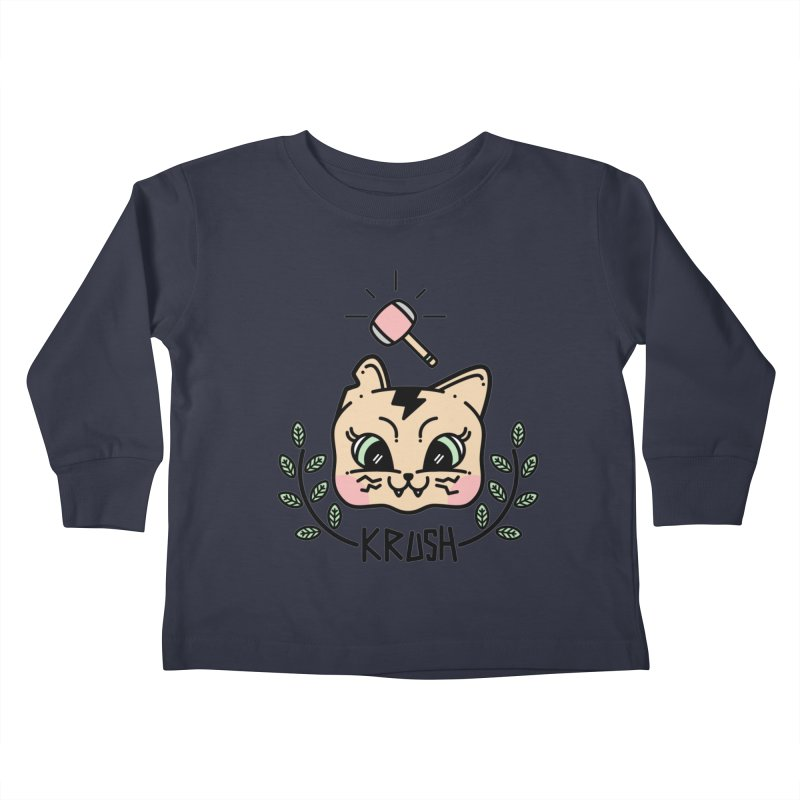 Kitty krush Kids Toddler Longsleeve T-Shirt by Cristóbal Urrea