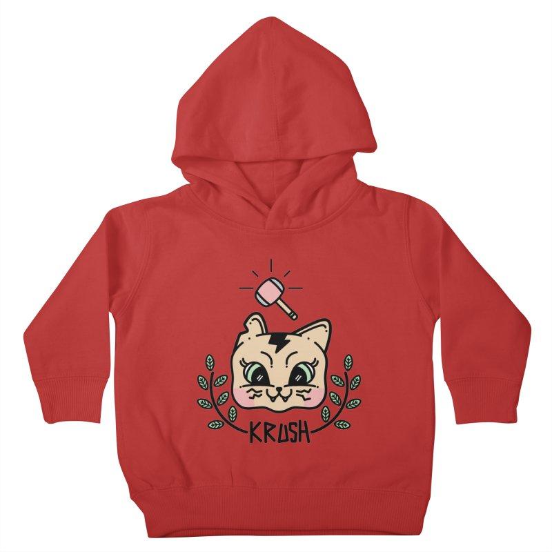 Kitty krush Kids Toddler Pullover Hoody by 3lw's Artist Shop