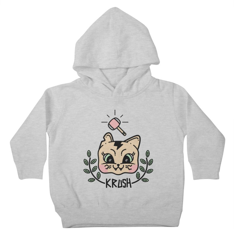 Kitty krush Kids Toddler Pullover Hoody by 3lw's Artist Shop