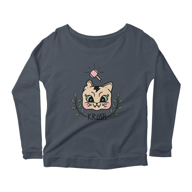 Kitty krush Women's Scoop Neck Longsleeve T-Shirt by 3lw's Artist Shop