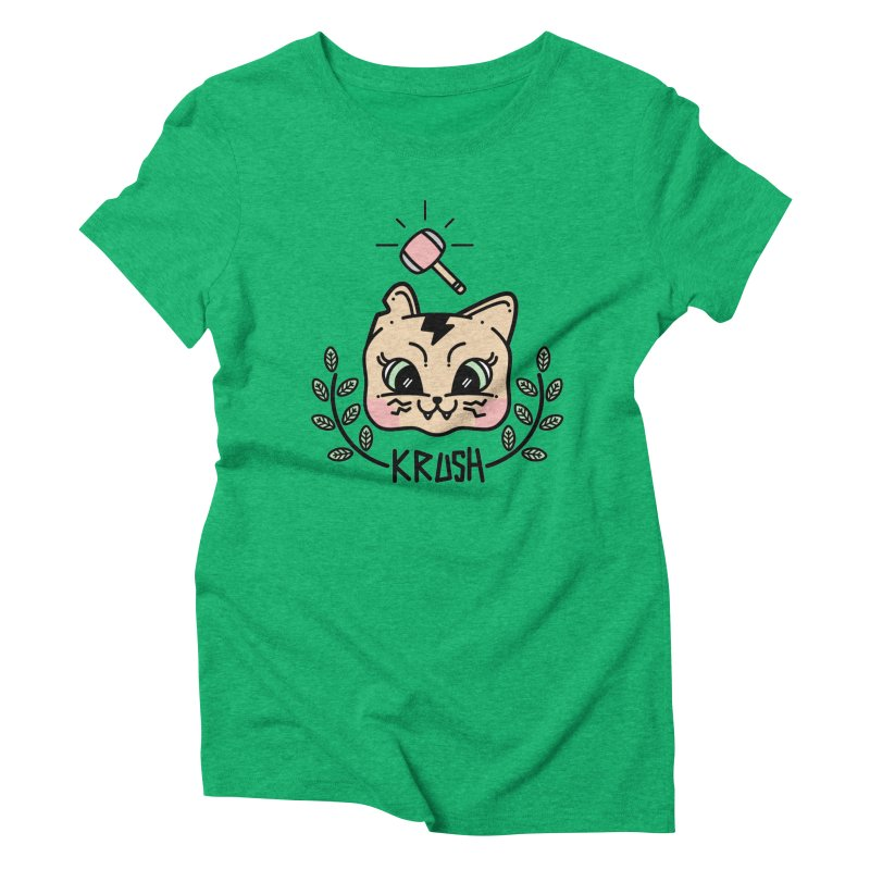 Kitty krush Women's Triblend T-Shirt by Cristóbal Urrea