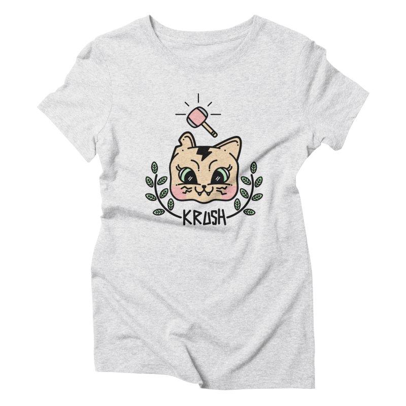 Kitty krush Women's Triblend T-shirt by 3lw's Artist Shop
