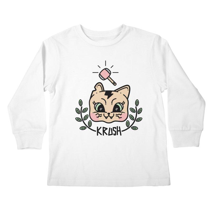 Kitty krush Kids Longsleeve T-Shirt by 3lw's Artist Shop